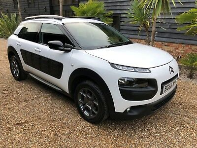 2016/66 Citroen Cactus Feel 1.6 Blue Hdi In White With Black Interior 18K Fcsh