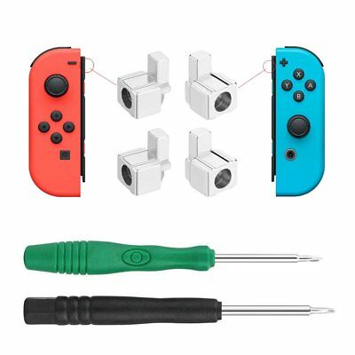 Metal Alloy Lock Buckles Latch with Two Screwdriver for Nintendo Switch Joy-Con