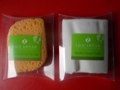 Spa Sense Face Cleaning Sponge Or Muslin Facial Cloth Or One Of Each