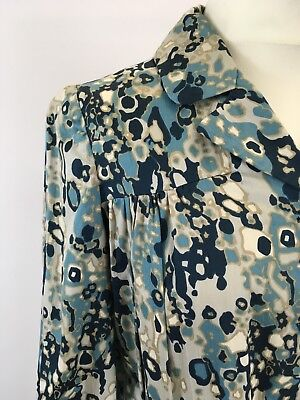 True vintage late 40s abstract cotton long sleeve shirtwaister Goodwood