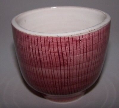 Rye Pottery Pink Glazed Filament Bowl Hand Thrown Pam Goddard