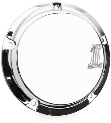 San Diego Customs 5-Hole Number 1 Derby Cover Chrome #P-DC003CHR Harley Davidson