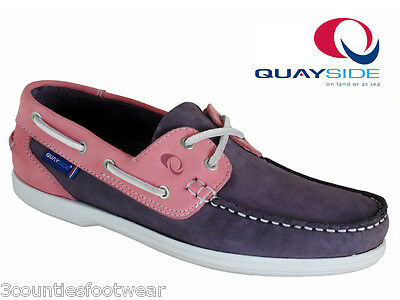 Ladies Boat Shoes - Quayside Burmuda Machine Washable -  Hand Crafted Deck Shoes