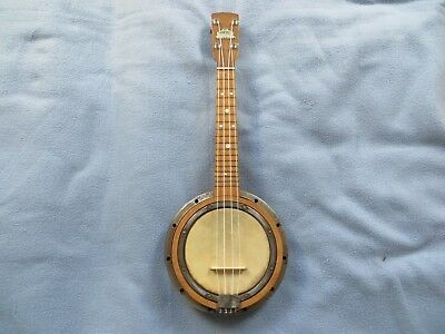Barnes and Mullins Banjo ukulele with steel resonator in good playable condition