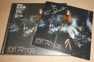 HAND-SIGNED Tori Amos Native Invader Deluxe Edition CD New Autograph Autographed