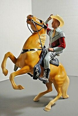 Hartland Early Roy Rogers on Full Rearing Trigger / Rare Stenciled Saddle / Nice