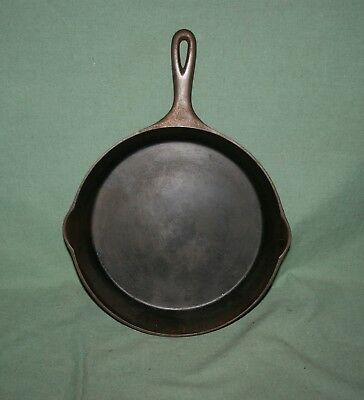 Antique Wagner Ware 1059F  Cast Iron Skillet Heat Ring Clean