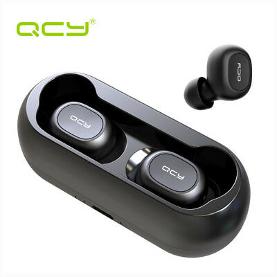QCY T1C TWS 5.0 Wireless Bluetooth Stereo Headset Headphone Dual Earbuds w Mic