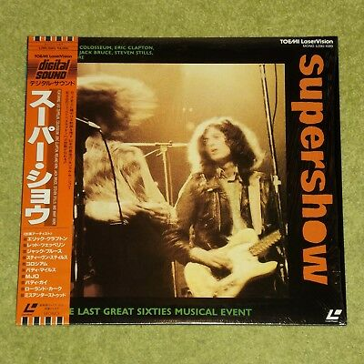 SUPERSHOW [Led Zeppelin/Eric Clapton] - 1987 JAPAN LASERDISC + OBI (L090-1089)
