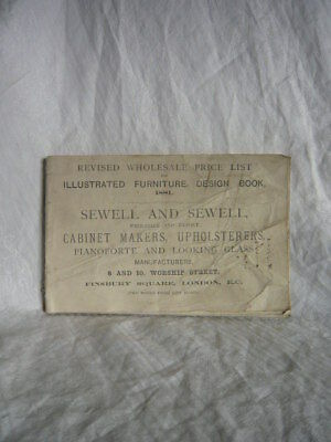 Antique Furniture Sewell & Sewell 1881 Finsbury Square London Trade Price List