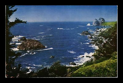 Dr Jim Stamps Us Shore Of The Pacific California Northwest View Postcard