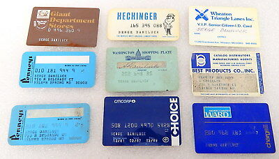 Lot Vintage Credit Cards ID Card Washington DC Maryland Department Stores Closed