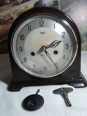 Smith Enfield  Bakelite clock in restored Working condition