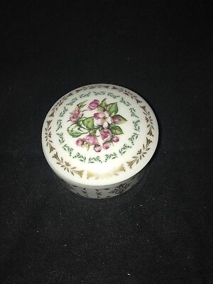 Daughters of the American Revolution Flowers of Colonial America trinket box