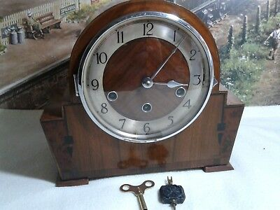 Art Deco style Westminster clock in excellent restored working condition