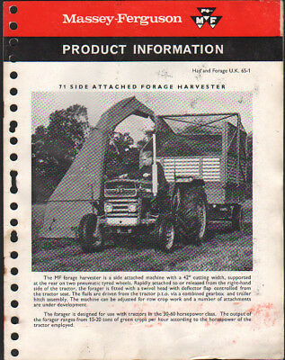 "Massey Ferguson ""71 Forage Harvester"" Product Information Brochure"