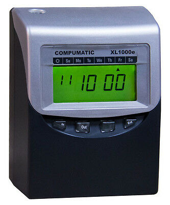 Compumatic XL1000e Calculating Time Clock + Time 100 Cards - New Clock, Open Box