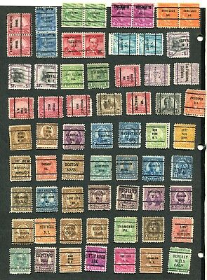 Stamp Lot Of The U.s., Precancels And Town Cancels (4 Scans) Unchecked