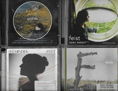 Feist 4 Cds Let It Die Open Season Remixes And Collabs The Reminder Metals
