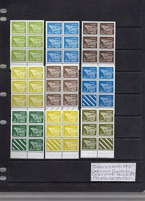 Ireland Mnh 1971 Decimal Currency Definitive Booklet Panes Selection