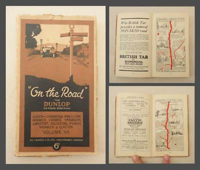 """1926 DUNLOP """"ON THE ROAD"""" Pictorial Road Plans/ Maps - Vol.7 LONDON/ EAST ANGLIA"""
