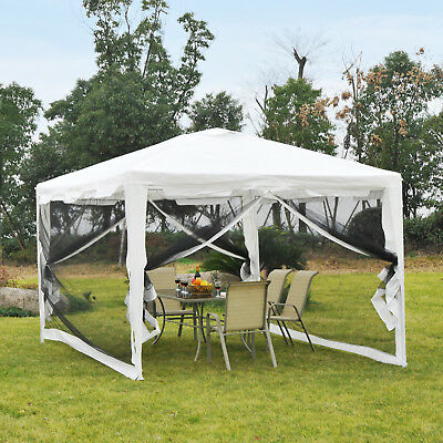 10x13ft Gazebo Party Tent Outdoor Wedding Events Tent w/ Mesh Sidewalls