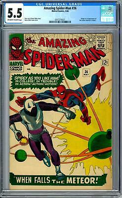 Amazing Spider-Man #36 CGC 5.5 (OW-W) Origin & 1st Appearance of the Looter