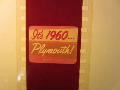 1960 PLYMOUTH 35mm Film Strip Promotional Ad promo commercial advertisement