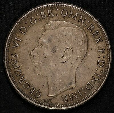 AUSTRALIA - George VI - One Crown 1937 - KM-34 -Large Silver Coin Item#M4742