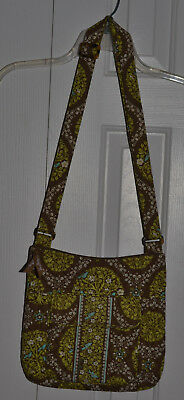 Vera Bradley green adjustable strap cross body bag/shoulder bag, EUC