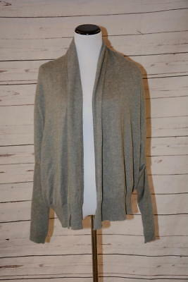 Vince Sweater Light Gray Upside Down Cardigan Size Medium