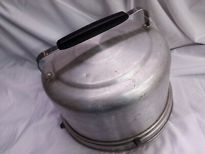 Vintage Metal Cake Plate Carrier/Saver with Lid Cover
