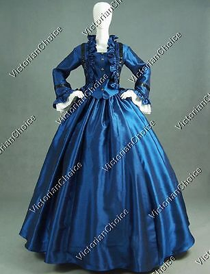 Victorian Dickens Evening Dress Gown Reenactment Cosplay Steampunk Costume 170 M