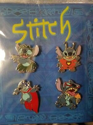 Stitch Booster Set Disney Authentic Trading Pin Set - 4 Total LE Pins -Brand NEW