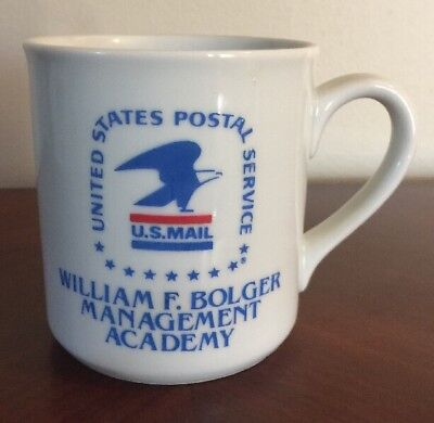 United States Postal Office Service Management Academy Coffee Cup Mug Vtg USPS