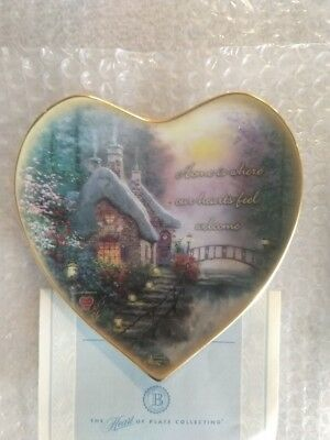 Thomas Kinkade Collector Plate 'Home is Where Our Hearts Feel Welcome' w/ CoA