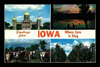 Dr Jim Stamps Us Greetings From Iowa Multiple Views Chrome Postcard