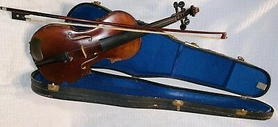 1920 Carlo Micelli 4/4 Size Violin w/ Case and Mother of Pearl Bow - Germany