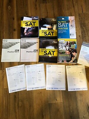 The Official SAT Study Guide, 2018 Edition (College Board) and Princeton review