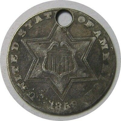 elf Three Cents Silver  1858   Type II