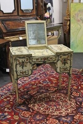 Dressing Table Genovese, Lacquered And Painted, Period '700 / Genovese /