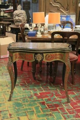 Table Game, Napoleon Iii, Period Nineteenth Century, Inlaid The Boulle