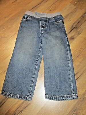 The Children's Place 2T Toddler Boys Blue Denim  Elastic Waist Jean Pants
