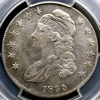 1835 Capped Bust Half Dollar, Overton O-106 - PCGS XF40 - Silver 50c Variety