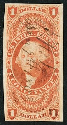 Dr Jim Stamps Us Scott R66A $1 Conveyance Used No Reserve Free Shipping