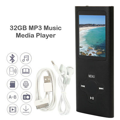 1.8'' 32GB Lettore MP3 MP4 Player Musica LCD Audio Video Foto Radio FM Touch USB
