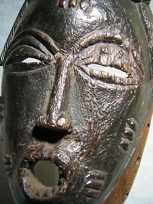 A fine BAULE mask *** AFRICANTIC FRANCE *** Old African Tribal Primitive Art
