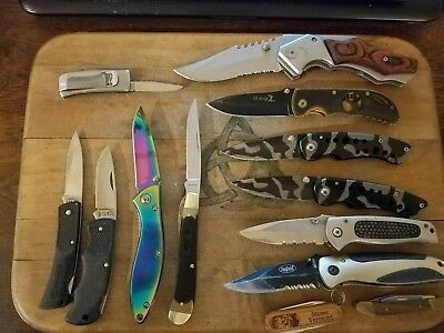 TSA Confiscated Knives 1000 S&W, Schrade, CUTCO, Timber Wolf