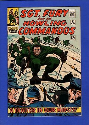 Sgt. Fury And His Howling Commandos #32 Vf/nm 9.0 High Grade Silver Age Marvel