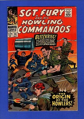 Sgt. Fury And His Howling Commandos #34 Fn/vf Higher Grade Silver Age Marvel